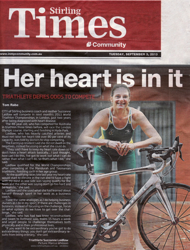 Stirling Times - Her heart is in it (Suzzanne Laidlaw)